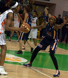 UMMC contro il ROS Casares Euroleague 2009-2010. fotografia stock libera da diritti