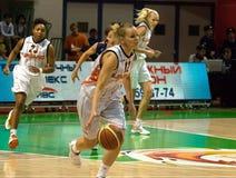 UMMC contro il ROS Casares Euroleague 2009-2010. Immagini Stock Libere da Diritti