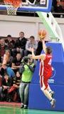 UMMC contro TEO. Pallacanestro Euroleague 2009-2010 delle donne Fotografia Stock