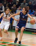 UMMC gegen ROS Casares Euroleague 2009-2010. Lizenzfreie Stockfotos