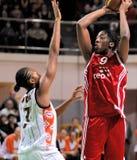 UMMC gegen TEO. Frauenbasketball Euroleague 2009-2010 Lizenzfreies Stockbild