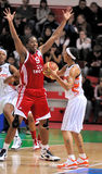 UMMC gegen TEO. Frauenbasketball Euroleague 2009-2010 Lizenzfreie Stockbilder