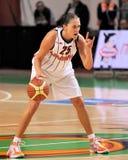 UMMC gegen TEO. Frauenbasketball Euroleague 2009-2010 Stockbild