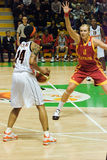 UMMC VERSUS Galatasaray. Euroleague 2009-2010 Royalty-vrije Stock Foto
