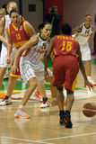 UMMC VERSUS Galatasaray. Euroleague 2009-2010. Royalty-vrije Stock Foto's
