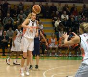 UMMC versus Ros Casares. Euroleague 2009-2010. Royalty-vrije Stock Foto's