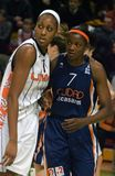 UMMC versus Ros Casares Euroleague 2009-2010. Stock Afbeelding