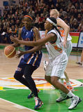 UMMC versus Ros Casares Euroleague 2009-2010. Royalty-vrije Stock Foto's