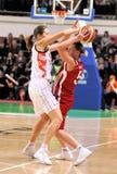 UMMC versus TEO. Het basketbal Euroleague 2009-2010 van vrouwen Royalty-vrije Stock Afbeeldingen