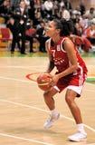 UMMC versus TEO. Het basketbal Euroleague 2009-2010 van vrouwen Royalty-vrije Stock Fotografie