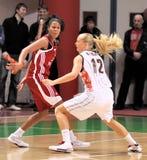 UMMC versus TEO. Het basketbal Euroleague 2009-2010 van vrouwen Stock Afbeeldingen