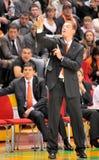 UMMC versus TEO. Het basketbal Euroleague 2009-2010 van vrouwen Stock Foto's