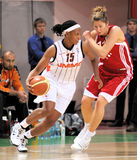 UMMC vs TEO. Women basketball Euroleague 2009-2010 Royalty Free Stock Image