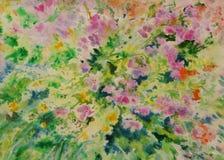 Umore del fiore di colore di acqua Fotografia Stock Libera da Diritti