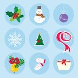 Umore di festa del modello di simboli di inverno di Natale Immagini Stock