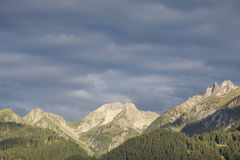 Umore di mattina nelle alpi di Lechtal Fotografia Stock Libera da Diritti