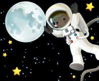 Umore felice e divertente del viaggio dello spazio - - illustrazione per i bambini Fotografia Stock