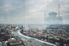 Umore nuvoloso della città Fotografie Stock Libere da Diritti