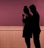 Umore romantico di giovani coppie Fotografia Stock Libera da Diritti