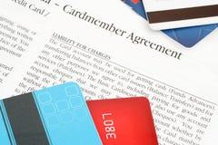 umowy kredytu karty. Fotografia Stock