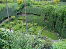 Umpherston Sinkhole or the Sunken Garden Stock Image