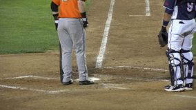 Umpire, Referee, Judge, Sports, Cleaning Home Base. Stock video of  a baseball umpire cleaning home plate stock video