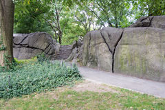 Umpire Rock at Central Park, New York Stock Photography