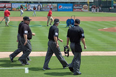 The Umpires are On The Field Stock Image
