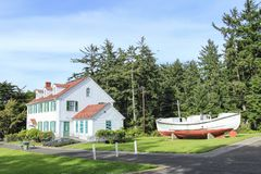 Umpqua River Coast Guard Station Oregon Royalty Free Stock Photos