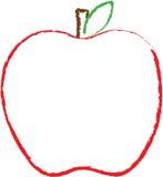 Umreiß eines großen roten Apfels Stockbild