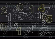 Umreiß von Zahlen stock abbildung