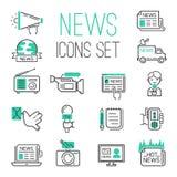 Umreißen heiße Nachrichten der Journalismusmedien Fernsehschwarze Kommunikation lizenzfreie abbildung