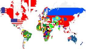 Entwurfskarten der Welt mit Stockbild