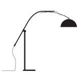 umreißschattenbild der modernen Auslegung der Lampe lizenzfreie abbildung