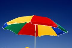 Umrella. Beach umbrella and deep blue sky Stock Photo