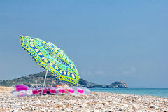 Umrella on the beach Stock Images