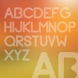 Umrissene Linien einfaches Alphabet Stockfotografie