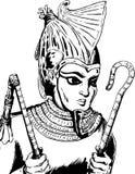 Umrissener ägyptischer Gott Osirus stock abbildung