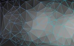 Umrissener abstrakter niedriger Polyvektor-Hintergrund Lizenzfreie Stockfotografie