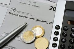 Umsatzsteuer-Voranmeldung Stock Photos