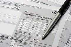 Umsatzsteuer-Voranmeldung Stock Photo