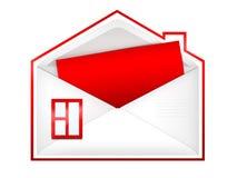 Umschlag â Haus Lizenzfreie Stockfotos
