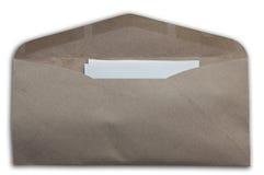 Umschlag als weißer Isolathintergrund Lizenzfreie Stockfotos