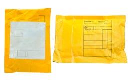 Umschlag getrennt auf Weiß lizenzfreie stockfotografie