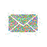 Umschlag kreist Ikone ein Lizenzfreies Stockbild