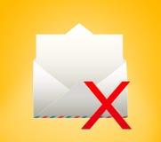 Umschlag mit Buchstaben gelöscht Lizenzfreie Stockbilder