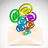 Umschlag mit buntem an den Zeichen Lizenzfreies Stockbild