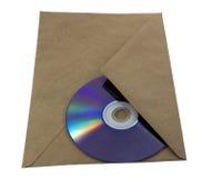 Umschlag mit einer CD nach innen Stockbild