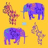 Umschlag mit Elefanten Stockfotos