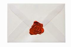 Umschlag mit eMail-Zeichen Stockfoto